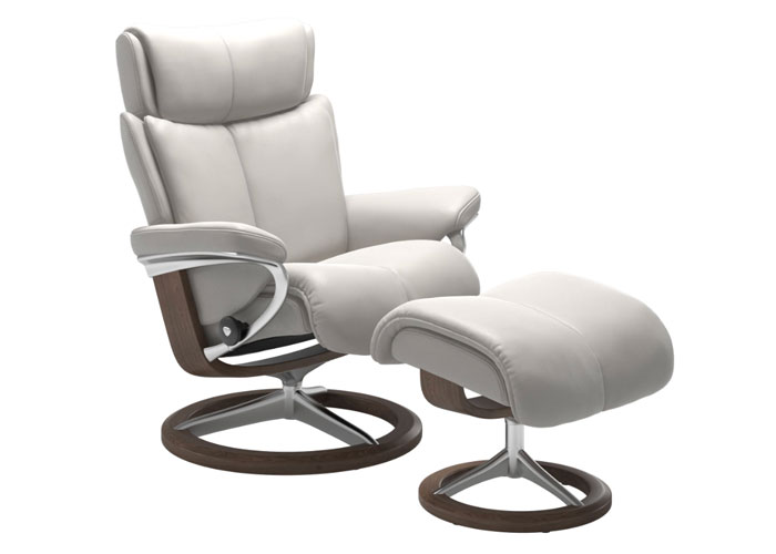 Stressless Magic Off White Pieds Walnut
