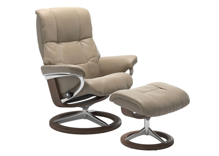 Stressless Mayfair Cori Fog pieds Walnut