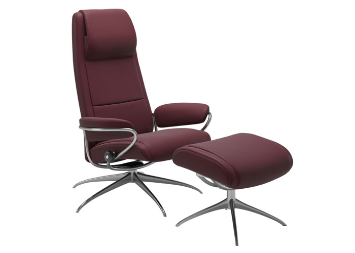 Stressless Paris High Back Chili Red
