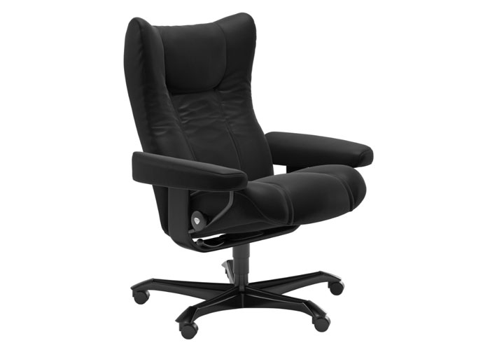 Stressless Wing Paloma Black Pieds noirs